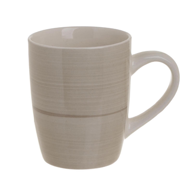 S/6 Κούπα stoneware 350cc Inart 3-60-766-0016