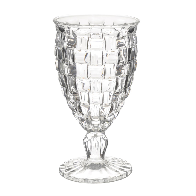 S/6 Ποτήρι κρασιού γυάλινο διάφανο Δ9×16.5cm Inart 3-60-095-0013