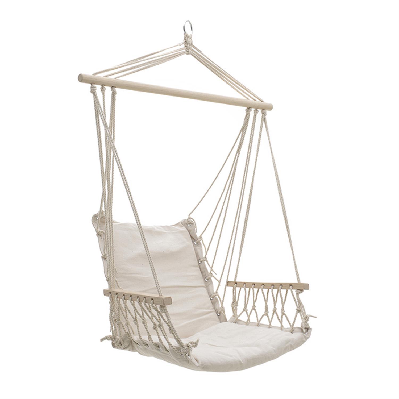 Αιώρα/Πολυθρόνα καμβάς εκρού 90x50x140cm Inart 3-50-243-0005