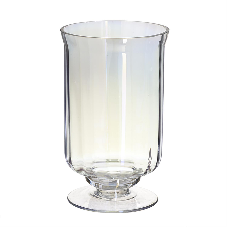 Βάζο γυάλινο διάφανο ιριδίζον Δ12.5x20cm Inart 3-70-289-0025