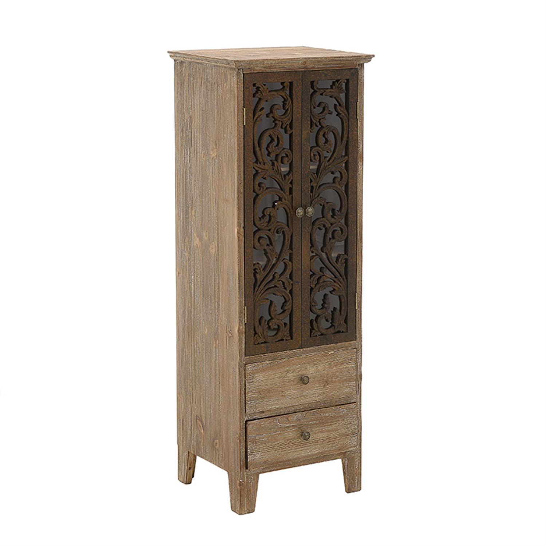 Βιτρίνα ξύλινη natural/καφέ 44x38x122cm Inart 3-50-937-0005