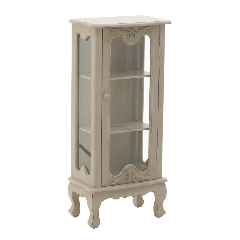 Βιτρίνα ξύλινη μπεζ 43×25.5x96cm Inart 3-50-250-0003