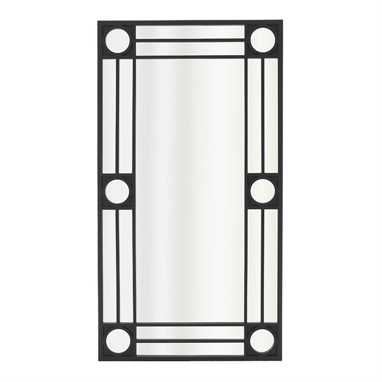 Καθρέπτης τοίχου pl μαύρος 41x2x76 cm Inart 3-95-361-0002
