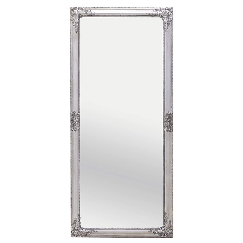 Καθρέπτης τοίχου polyresin αντικέ ασημί 72x6x162 cm Inart 3-95-261-0138