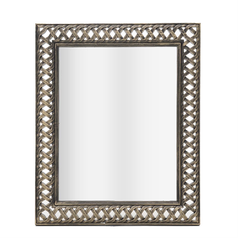 Καθρέπτης τοίχου polyresin αντικέ χρυσό 49×3.5x59cm Inart 3-95-058-0031