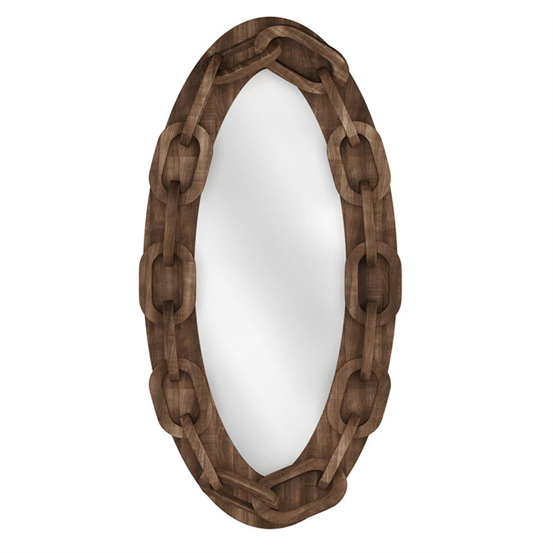 Καθρέπτης τοίχου αλυσίδα ξύλινος natural 60x15x120cm Inart 3-95-171-0004