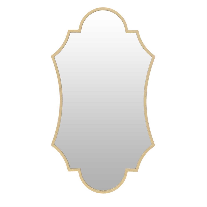 Καθρέπτης τοίχου μεταλλικός χρυσός 50.5x2x90cm Inart 3-95-161-0015