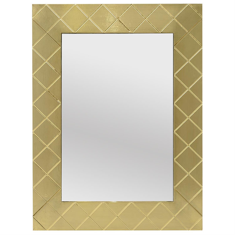 Καθρέπτης τοίχου ξύλινος χρυσός 60×2.5x80cm Inart 3-95-380-0001
