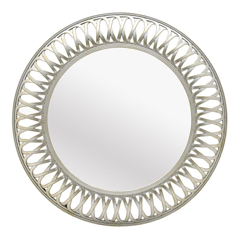 Καθρέπτης τοίχου στρόγγυλος pl σαμπανί Δ75x5cm Inart 3-95-925-0013