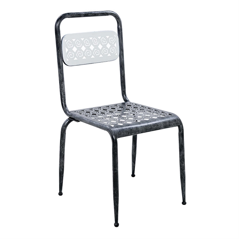 Καρέκλα μεταλλική γκρι 40x42x87cm Inart 3-50-235-0027