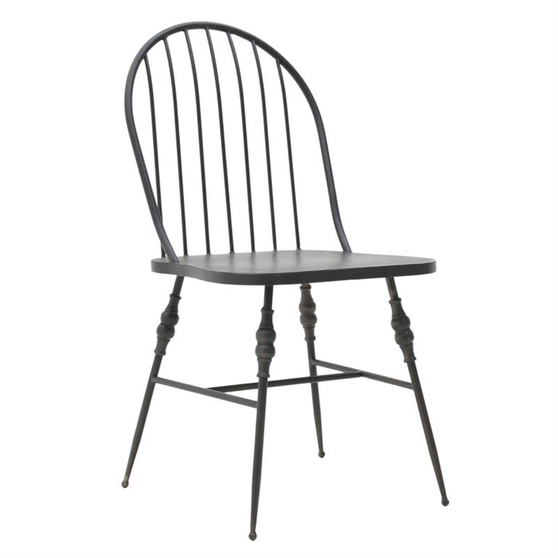 Καρέκλα μεταλλική μαύρη 54×47.5x89cm Inart 3-50-087-0013