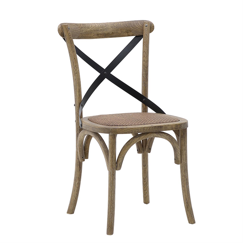 Καρέκλα μπιστρό ξύλινη natural 45x42x88cm Inart 3-50-597-0022