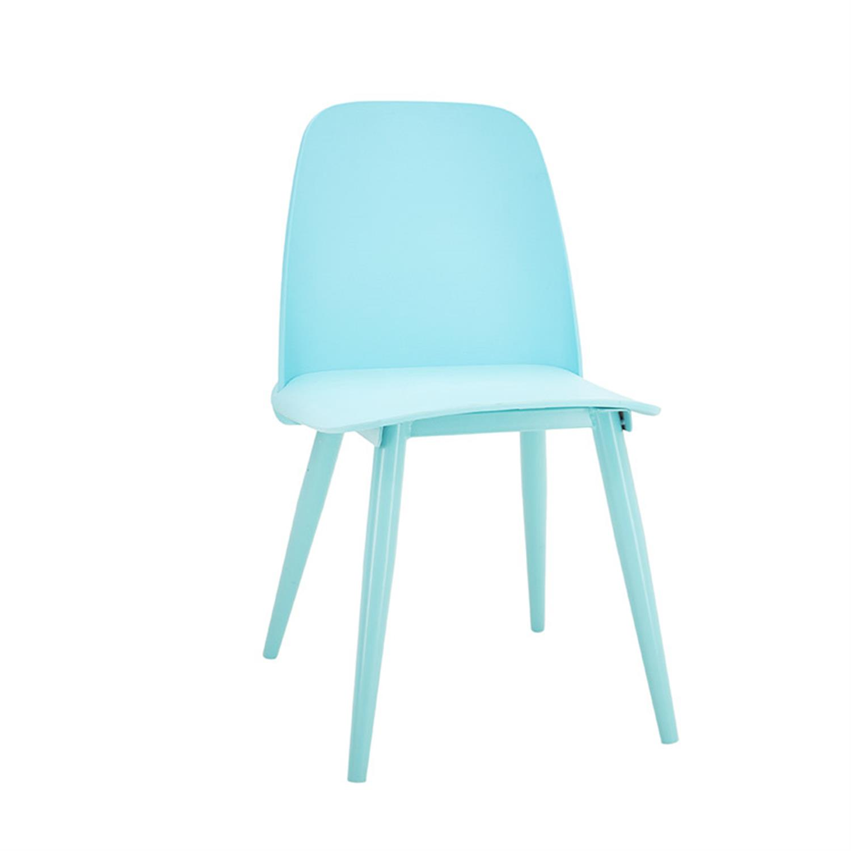 Καρέκλα μπλε pl με μεταλλικά πόδια 56x53x70cm Inart 3-50-587-0012