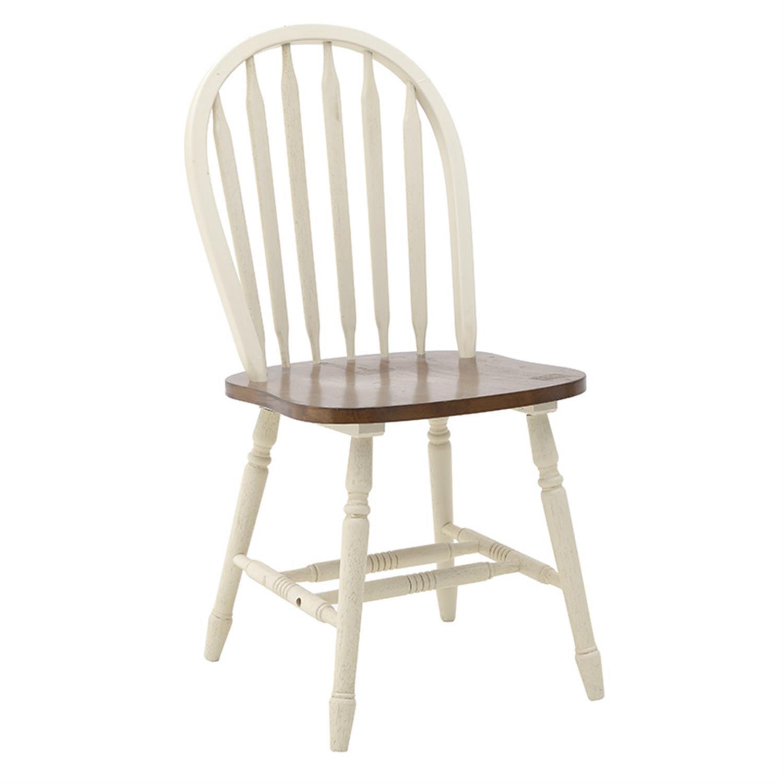 Καρέκλα ξύλινη καφέ/λευκή 45x48x93.5cm Inart 3-50-662-0008