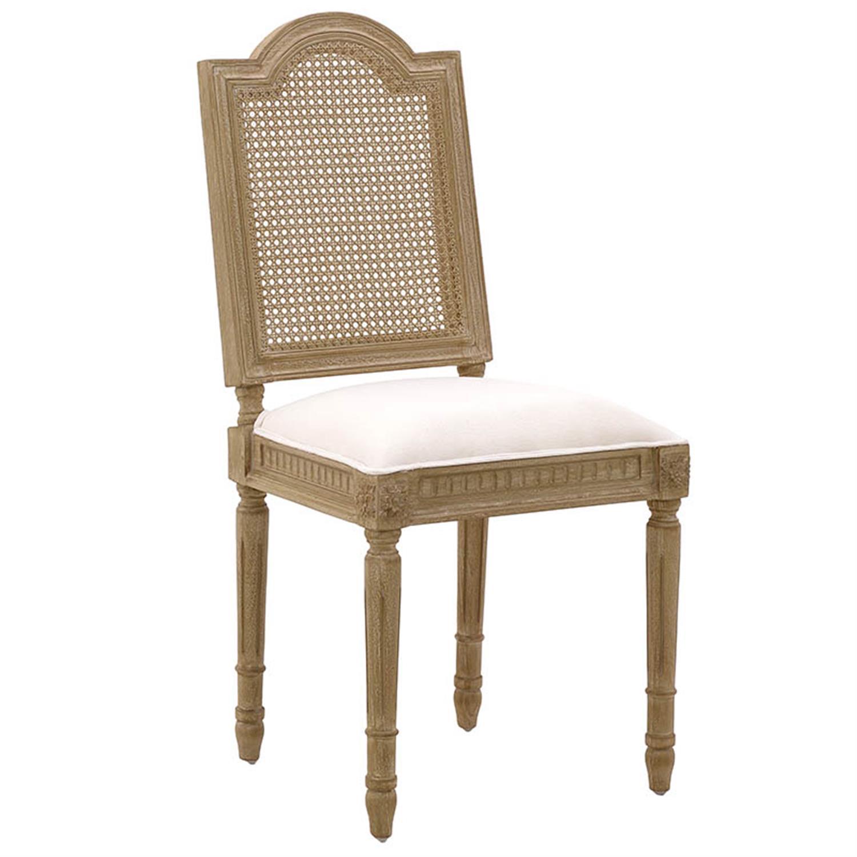 Καρέκλα ξύλινη/υφασμάτινη natural/εκρού 47x51x99/50cm Inart 3-50-422-0045