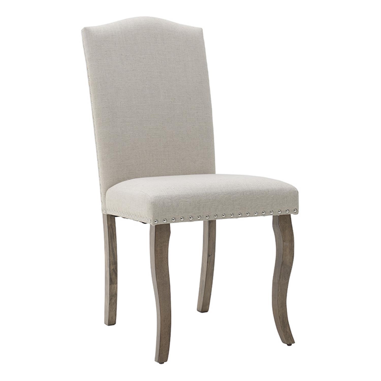 Καρέκλα ξύλινη/υφασμάτινη καφέ/εκρού 55x45x96cm Inart 3-50-836-0002