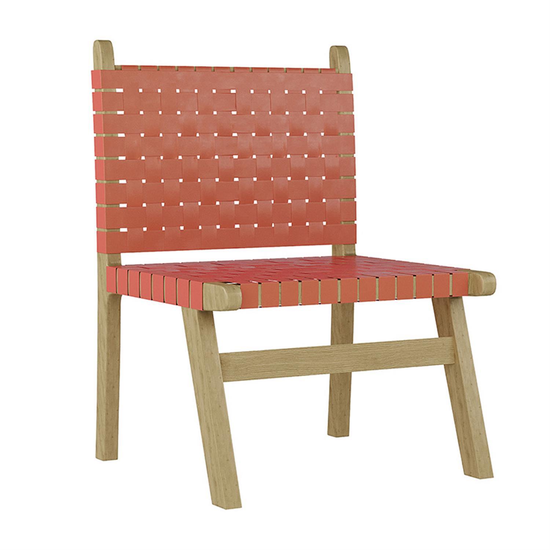 Καρέκλα ξύλινο/δερμάτινη καφέ/χρυσή 60x60x87cm Inart 3-50-552-0003