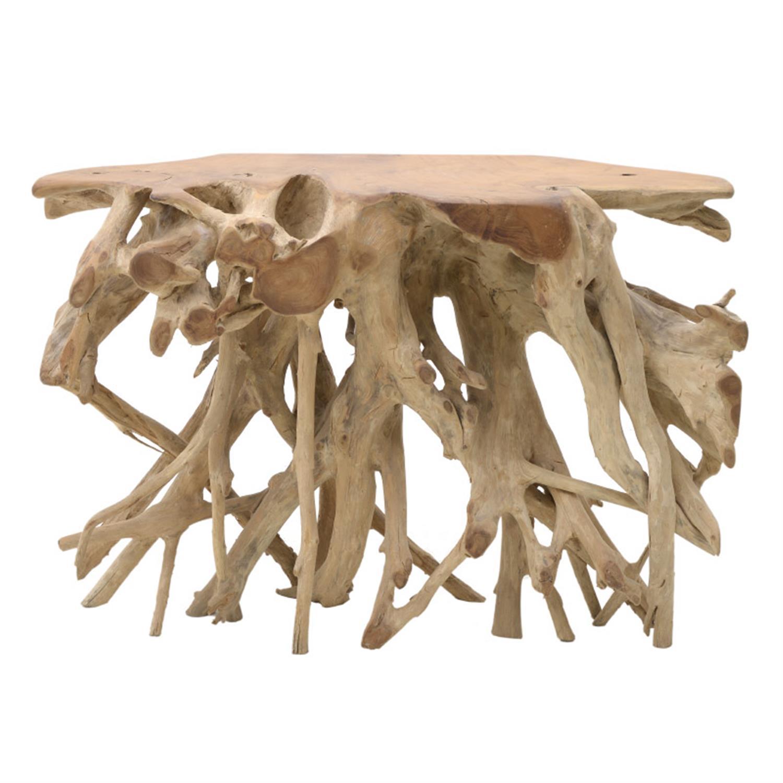 Κονσόλα από μασίφ ξύλινο natural 120x45x80cm Inart 3-50-722-0005