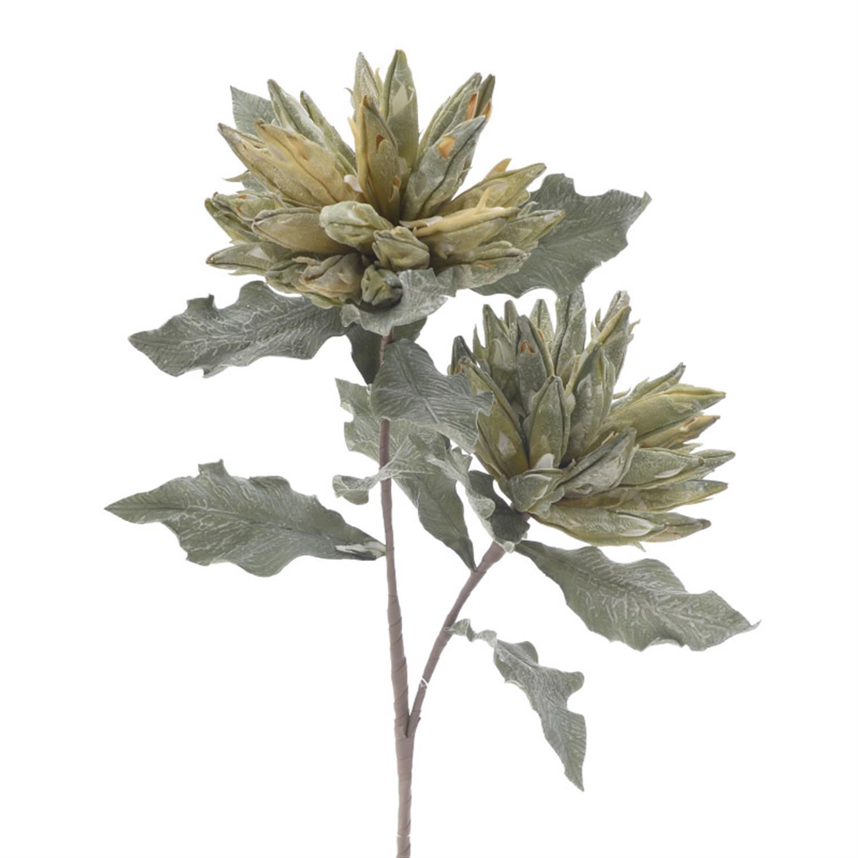 Λουλούδι/Κλαδί πράσινο/κίτρινο Υ116cm Inart 3-85-325-0009
