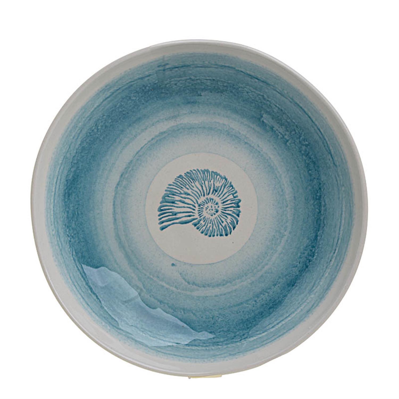 Μπωλ κοχύλι κεραμικό Δ30x6cm Inart 3-60-017-0033