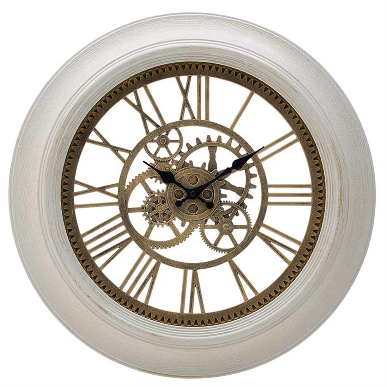 Ρολόι τοίχου pl αντικέ εκρού/χρυσό Δ51x5cm Inart 3-20-925-0010