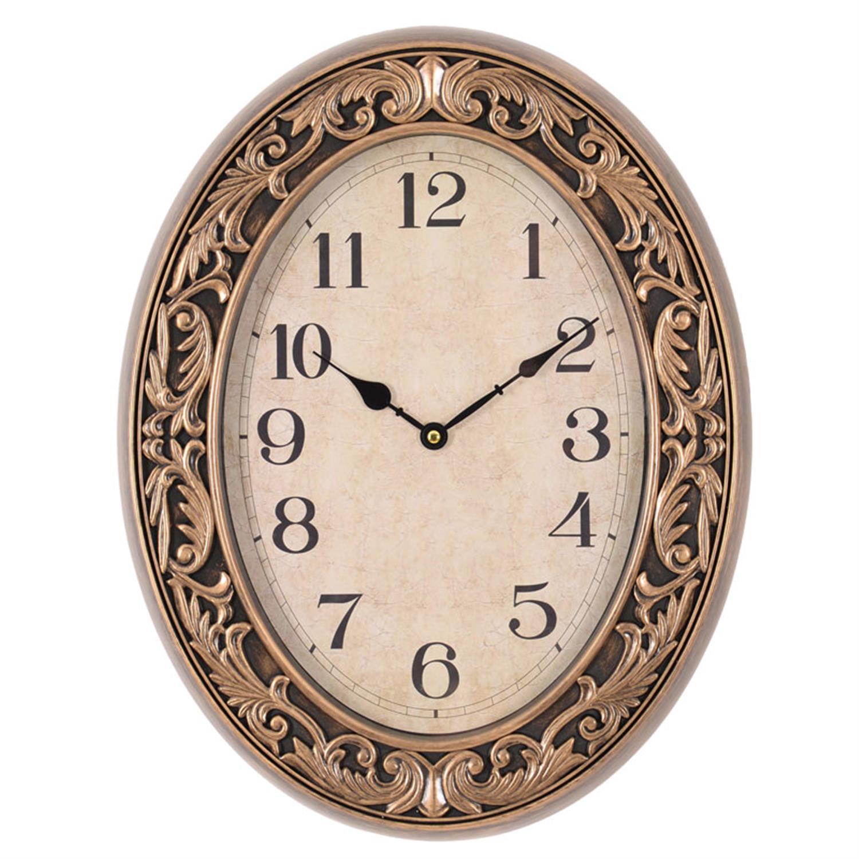 Ρολόι τοίχου pl αντικέ χρυσό 40x5x51cm Inart 3-20-385-0002