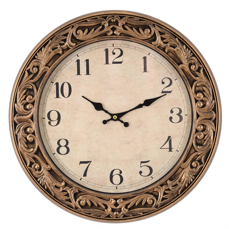 Ρολόι τοίχου pl αντικέ χρυσό Δ:45(4.5)cm Inart 3-20-385-0005