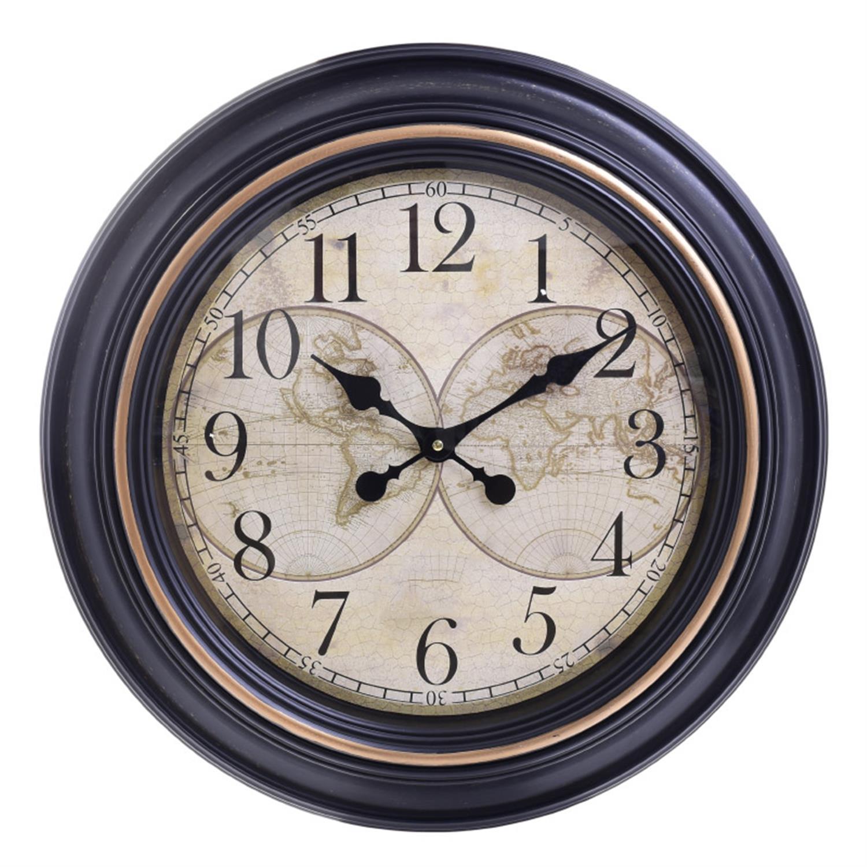 Ρολόι τοίχου pl μαύρο/εκρού Δ61×5.5cm Inart 3-20-385-0057