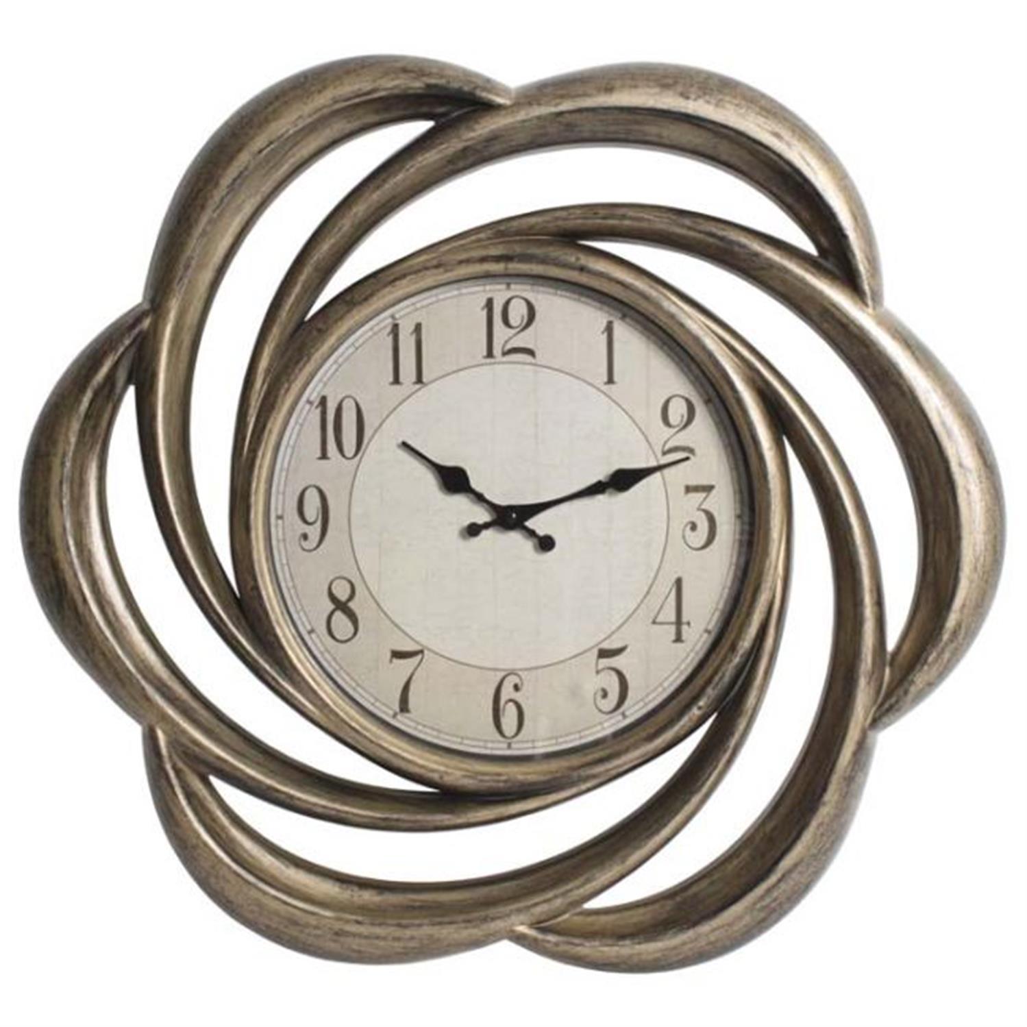 Ρολόι τοίχου pl μπρονζέ Δ/62(6.5)cm Inart 3-20-828-0010