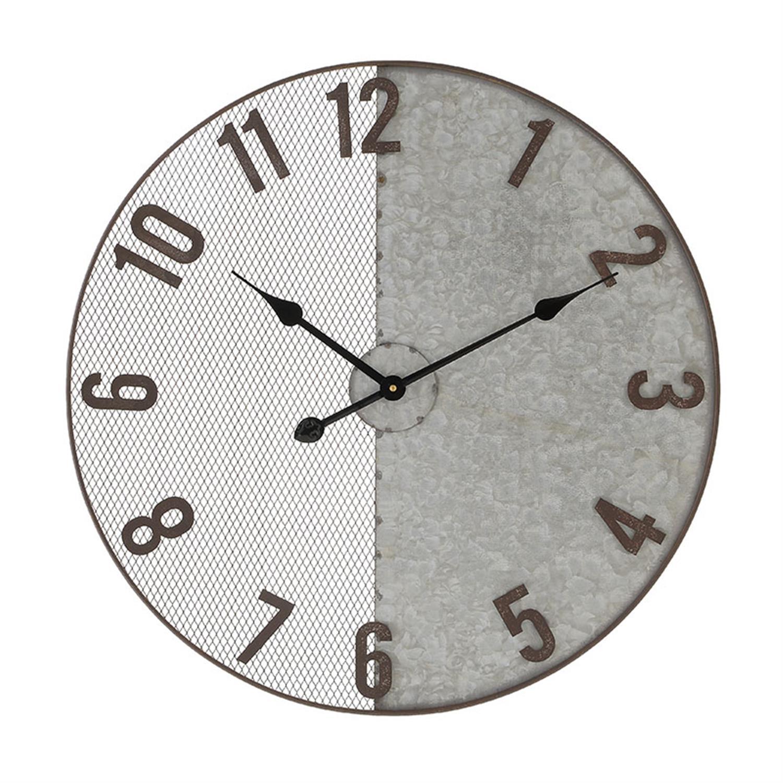 Ρολόι τοίχου μεταλλικό γκρι Δ60×4.5cm Inart 3-20-484-0431