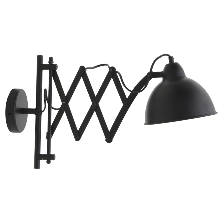 Φωτιστικό επιτοίχιο μεταλλικό μαύρο 72x18x31cm Inart 3-10-716-0034