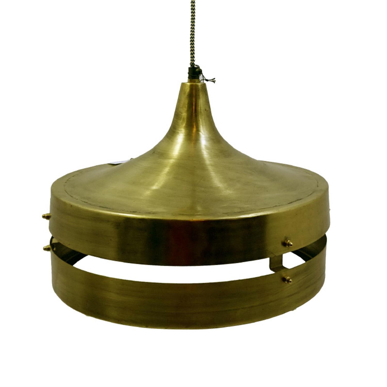 Φωτιστικό οροφής μεταλλικό αντικέ χρυσό Inart 3-10-042-0003