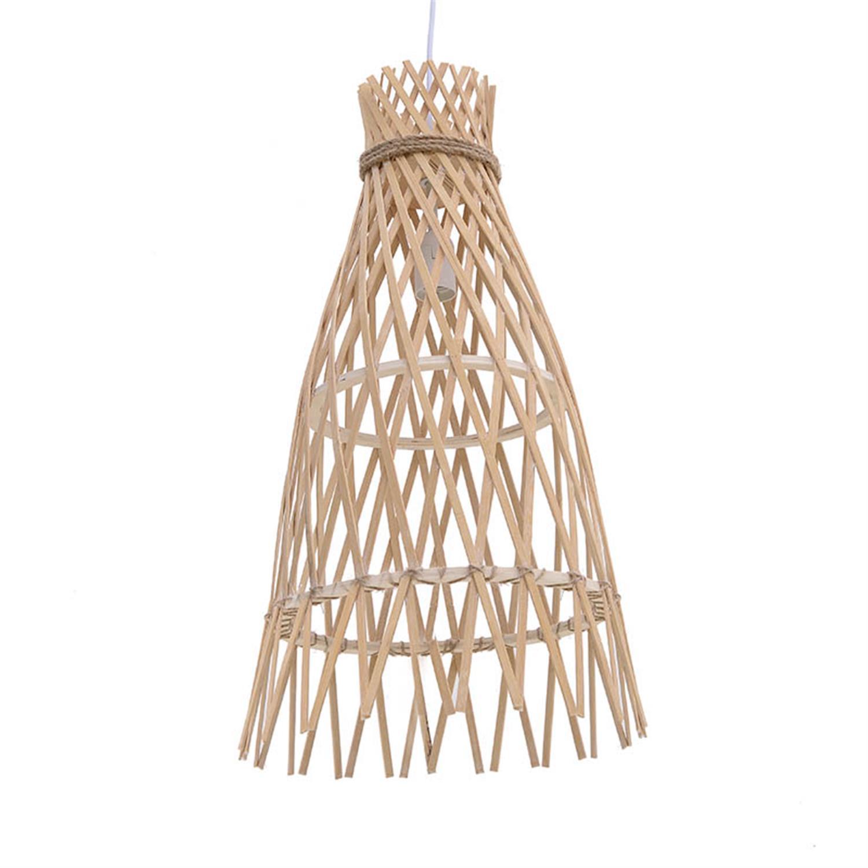 Φωτιστικό οροφής ξύλινο natural Δ22x37cm Inart 3-10-876-0119