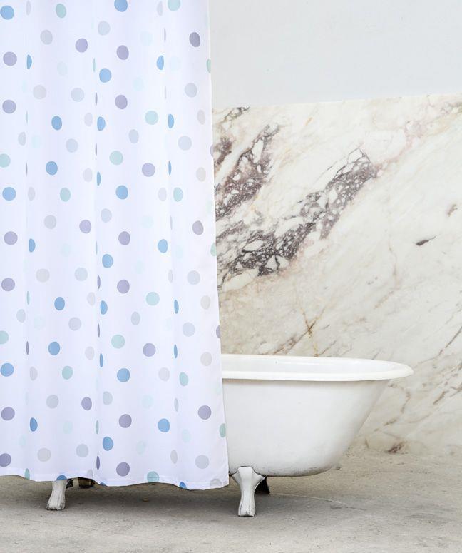 Κουρτίνα Μπάνιου 180x200cm Pointille Σιέλ Nima