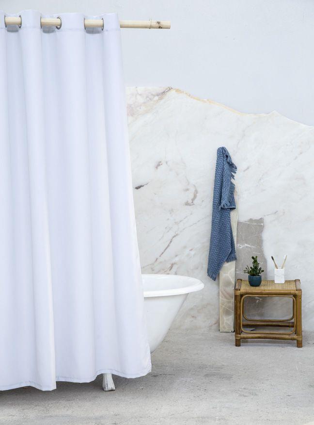 Κουρτίνα Μπάνιου 180x200cm Essential Γκρι Nima