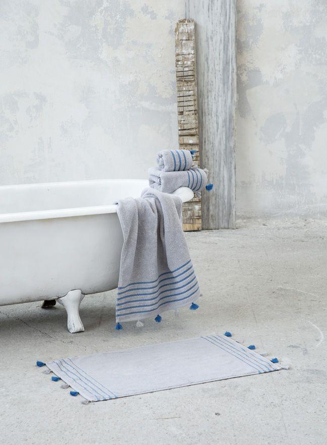Πατάκι Μπάνιου Demure Γκρι 50x80cm Nima