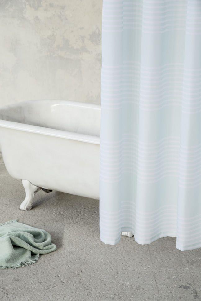 Κουρτίνα Μπάνιου Frontier Μέντα/Λευκό 180x180cm Nima