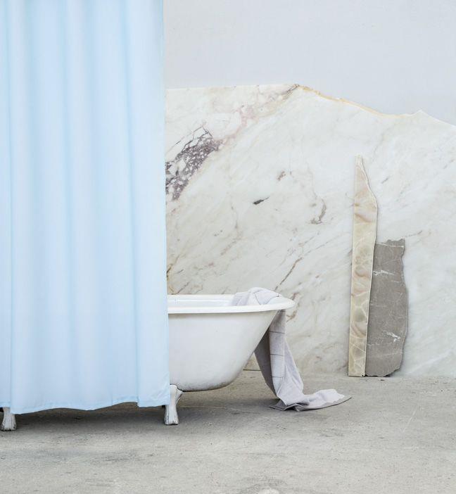 Κουρτίνα Μπάνιου Essential Μπλε 180x180cm Nima