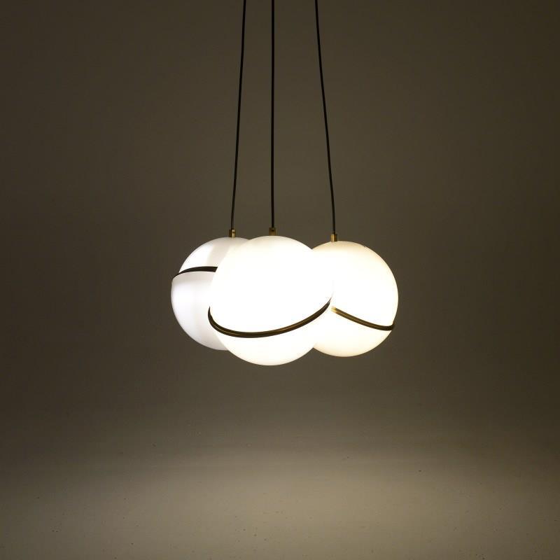 Φωτιστικό οροφής γυάλινο μελι/χρυσό 12.5×12.5x33cm Inart 3-10-548-0002
