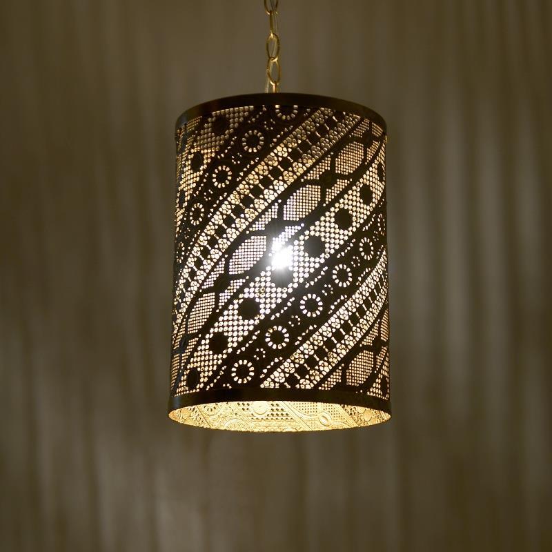 Φωτιστικό οροφής μεταλλικό χρυσό 25x25x36cm Inart 3-10-531-0001