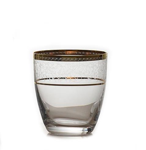 S/6 Ποτήρι ουίσκι Elisabeth gold κρυστάλλινο διάφανο/χρυσό 300ml Bohemia Crystalex CZ
