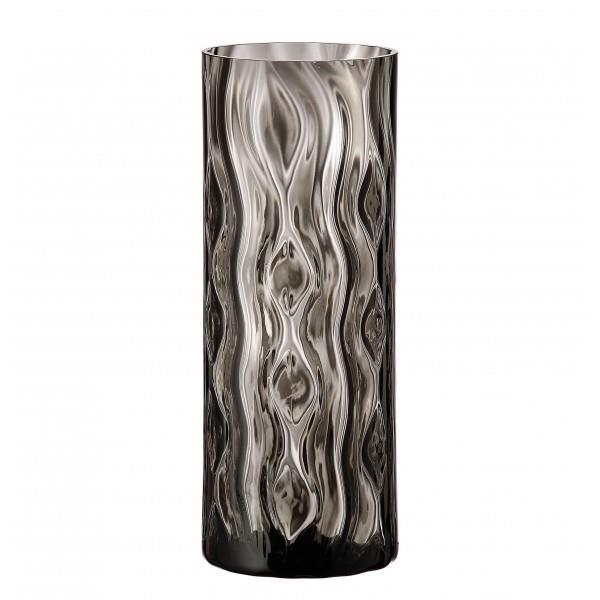 Βάζο διακοσμητικό Optic Rhythm κρυστάλλινο μαύρο Υ26cm Bohemia