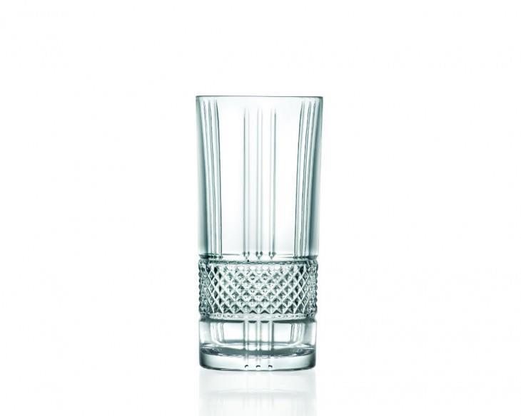Σετ 6 ποτήρια σωλήνα Brillante 370ml κρυστάλλινα διάφανα RCR