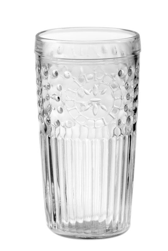 S/6 Ποτήρι σωλήνα Marruecos 434ml γυάλινο διάφανο Cristar