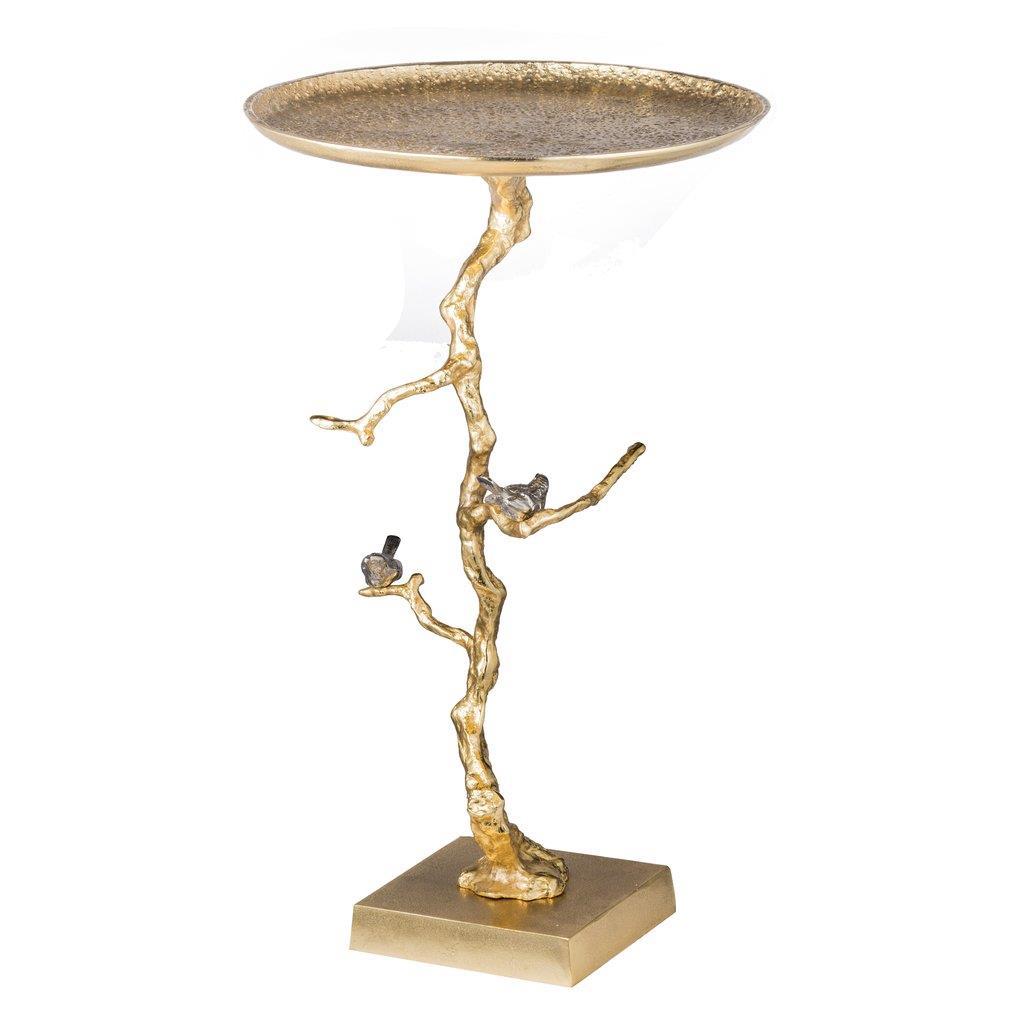 Τραπέζι βοηθητικό Alvada μεταλλικό χρυσό 43x43x71cm