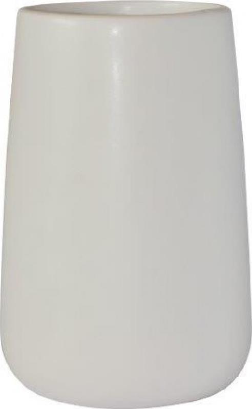 Ποτηράκι μπάνιου bamboo πορσελάνινο λευκό 8.6×8.6×13.2cm Estia 02-4576