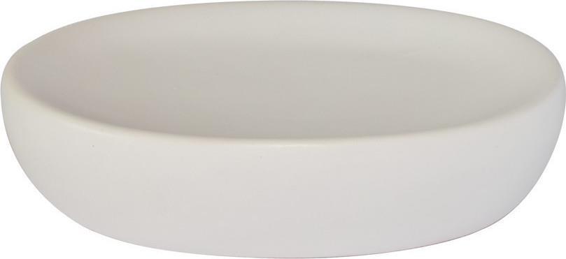Σαπουνοθήκη bamboo πορσελάνινη λευκή 12.3×9.4x3cm Estia 02-4583