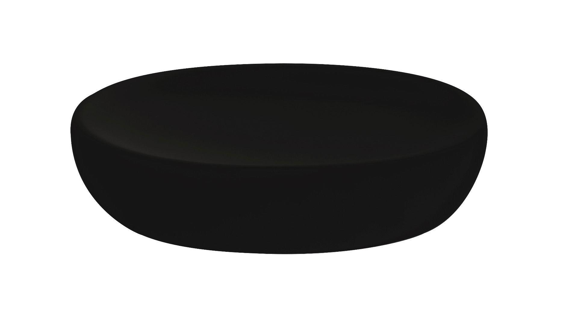 Σαπουνοθήκη bamboo πορσελάνινη μαύρη 12.3×9.4x3cm Estia 02-4613