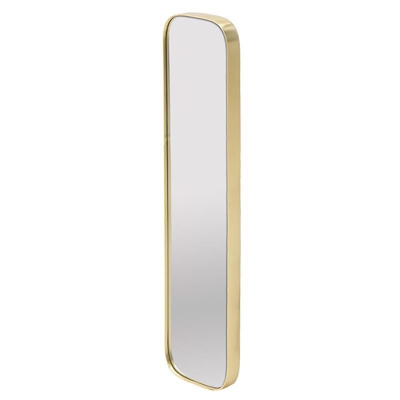Καθρέπτης τοίχου ξύλινος χρυσός 21x4x101cm Inart 3-95-297-0019