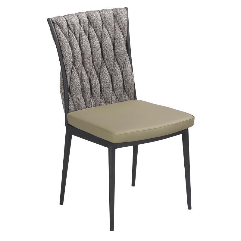 Καρέκλα pvc/μεταλλική μπεζ/γκρι 56x46x92cm Inart 3-50-728-0007